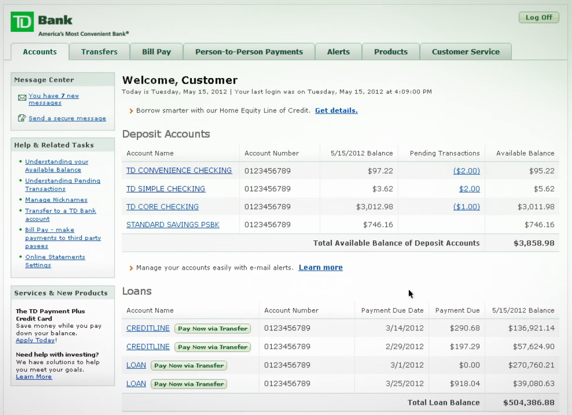 EasyWeb Online Banking